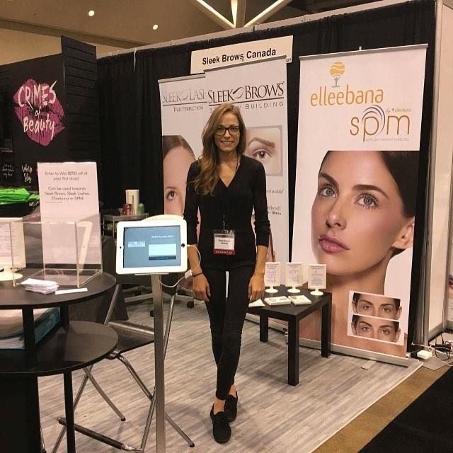 Good Job Jennifer! Distributor for Ontario province  for your presence with SleekBrows at IMATS Toronto.
