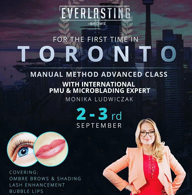 For the first time in Toronto Advanced class in MANUAL technique for Ombré Brows&manual eyeliner with the company founder Monika Ludwigzak and to make it the best course you ever attended we included 3D bubble lips limited seats available.#microblading#best#microbladingeyebrows#microbladingtraining#usa#canada#best#everlastingbrows#beauty#pigments#fashion#pmu#pmuproducts#brows#toronto#montreal#eyes#lips#ombrebrows#monicaludwiczak