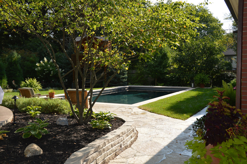 We Strove To Create The Feeling Of Swimming In A Garden. The Plantings Are  Designed To Be Full And Changing Throughout The Year.