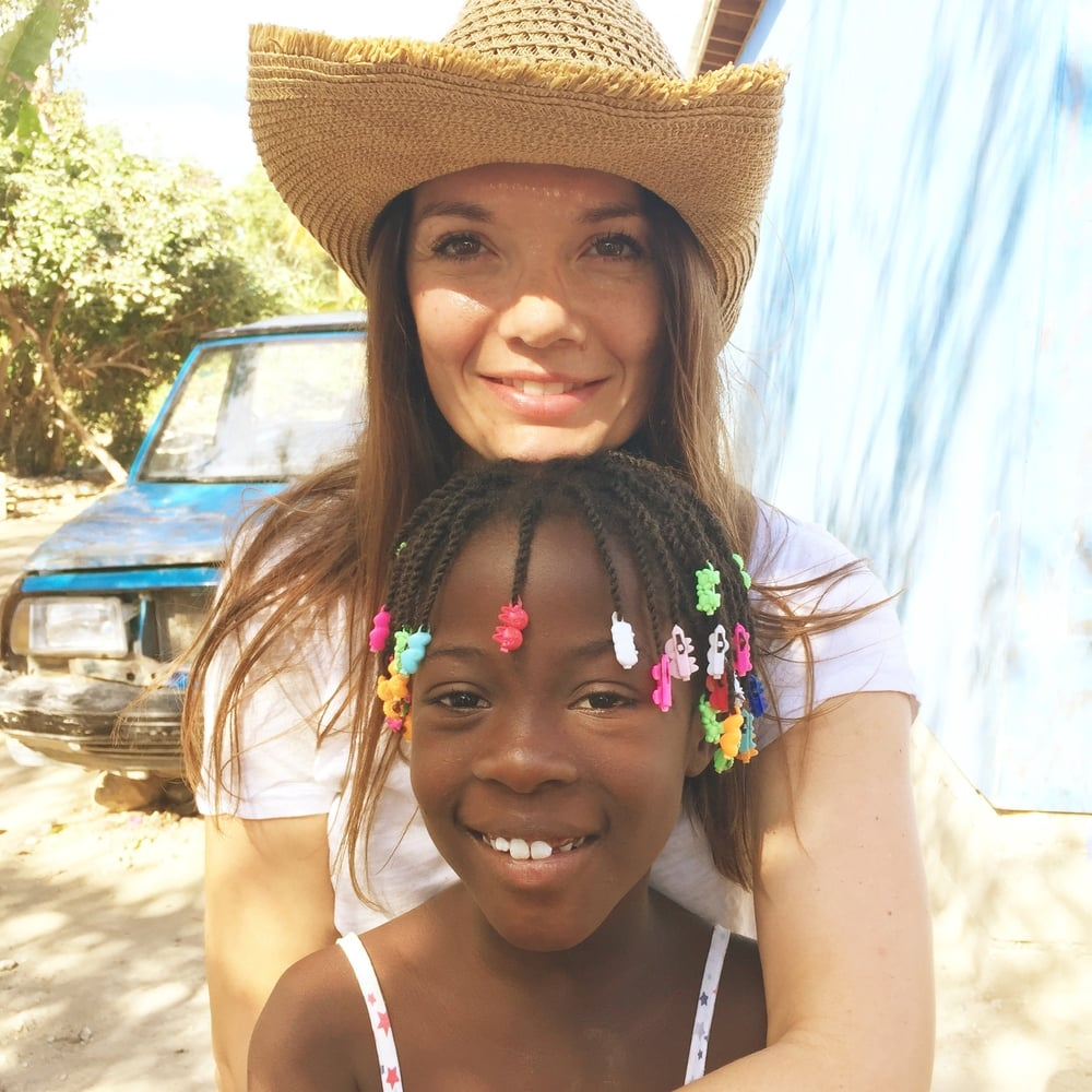 Beth volunteering at  Mission of Hope Haiti
