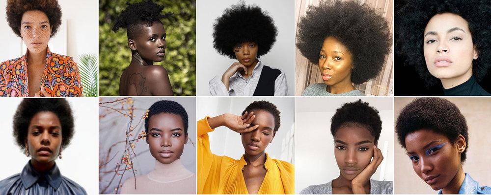 afro hair models