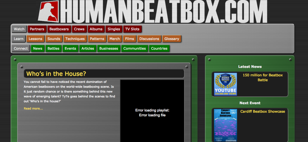 HumanBeatbox.com was struggling to keep up with the digital age
