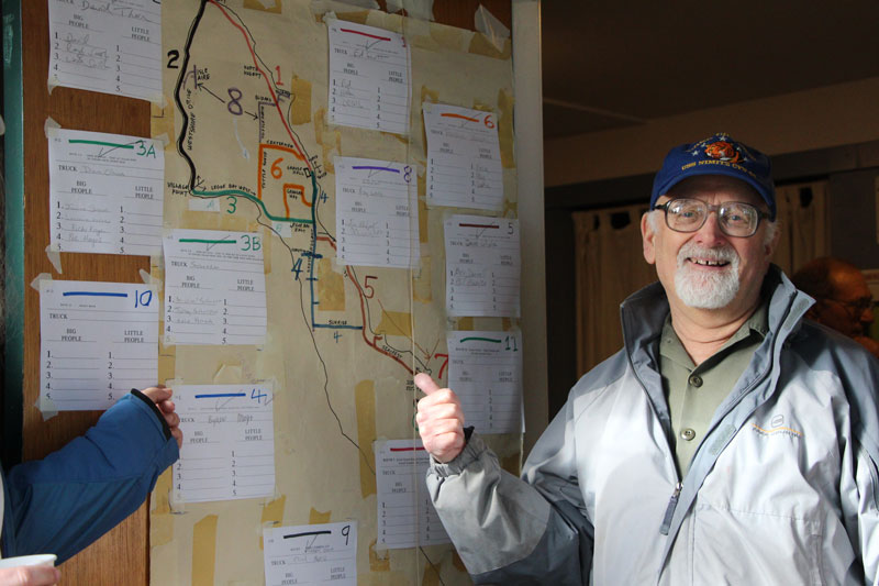Paul Davis with the route map