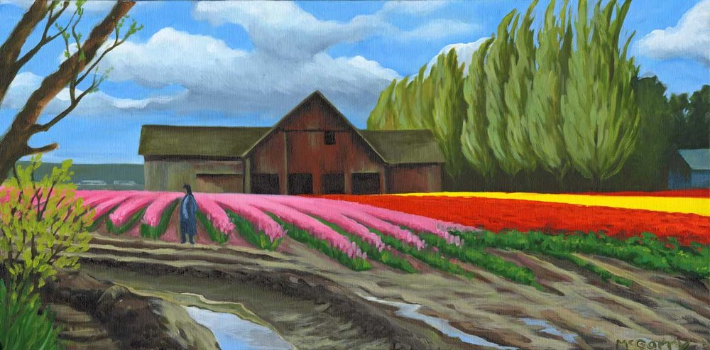 Tulip Fields  by Ingrid McGarry