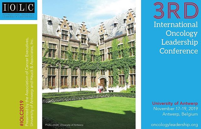 @hauckmeetings is pleased to announce the 3rd IOLC will be held in Antwerp, Belgium from November 17-19, 2019. Please stay tuned for updates. #hauckmeetings #oncology #antwerp #belgium #meetingplanners #conferences