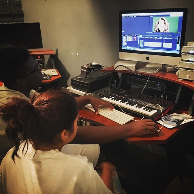 Today we got to watch the healing qualities of media production at work! Some students from the 1 o'clock class were struggling with the murder of one of their peers. During their class period they created a video commemorating their friend and in the process, were able to voice the pain in their hearts. #musictherapy #davidsharpfoundation #eastvillagesd #Studio #Sony #adobepremier