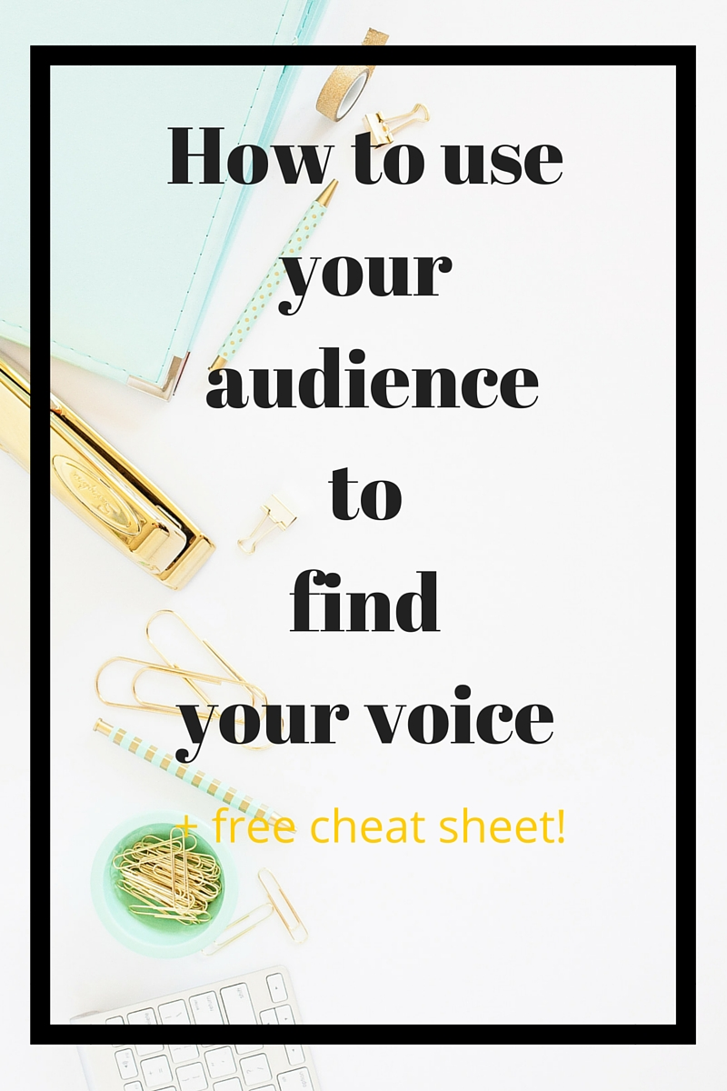 Three ways you can use your existing audience to find your voice. I'll show you the secret framework you're already sitting on top of, and how to tap into it! Plus free cheat sheet to help you take action.