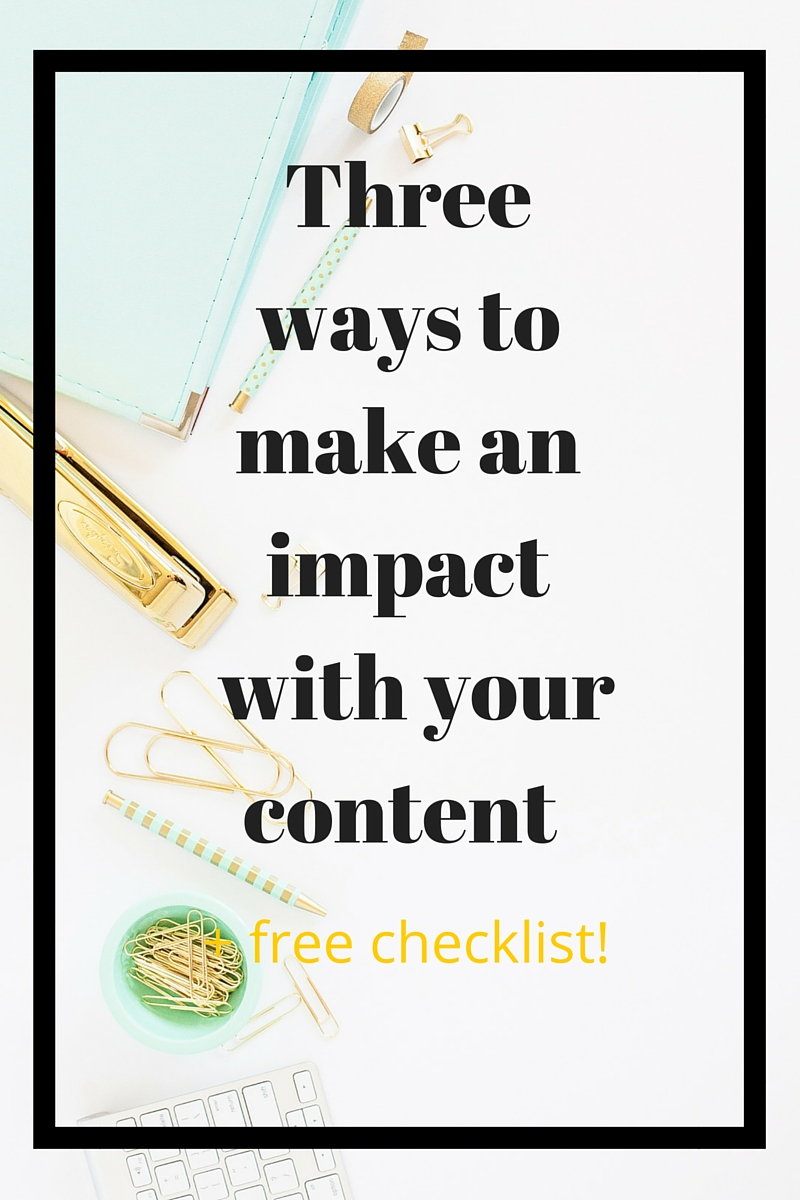 You know you need to produce content to get noticed. But how do you make sure that your copy writing is making an impact on your readers? I'm showing you the three things that any piece of content should be in order to make a good impression and get you noticed for all the right reasons. Let's get started!