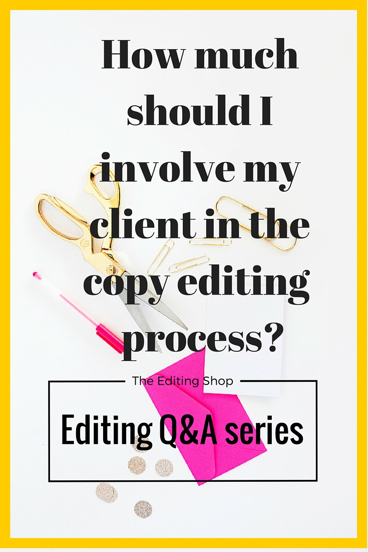Today's question is a good one: How much should you involve your client in the copy editing process if you're providing services to them? It can be tempting to have them approve every change you make, especially if you're just starting out and want validation, but this can be a huge time suck for you and for them. I show you the only two systems you need to set up for client involvement in copy editing, and how to handle the rest!