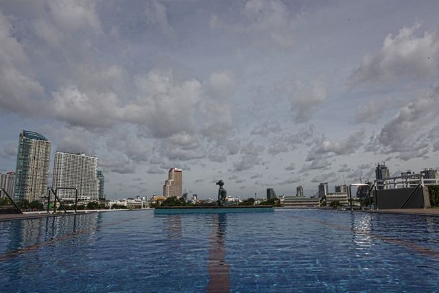 Pool at the Chatrium Bankok.jpg