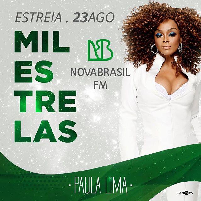 E amanhã é um dia muito especial! É dia de lançamento de #MilEstrelas na @novabrasilfm! 💚  Sintonizaaaa: www.novabrasilfm.com.br ou São Paulo FM 89,7 / Campinas FM 103,7 / Brasília FM 97,5 / Salvador FM 104,7 / Recife FM 94,3.