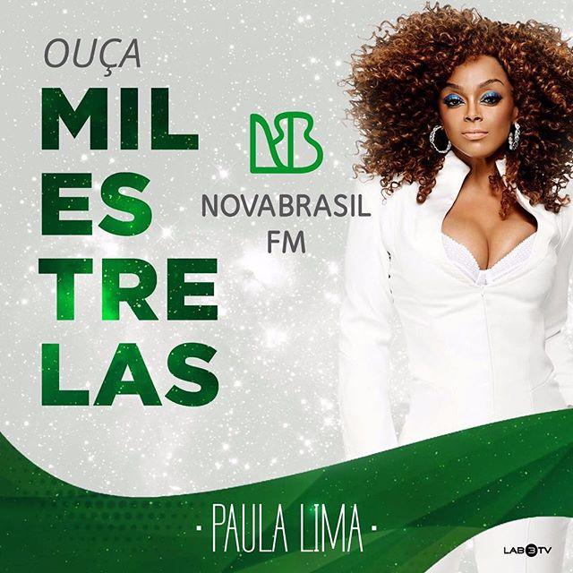 #MilEstrelas chegou brilhando na @novabrasilfm! Incrível e feliz! ✨🍀 Sintonizem: www.novabrasilfm.com.br ou São Paulo FM 89,7 | Campinas FM 103,7 | Brasília FM 97,5 | Salvador FM 104,7 | Recife FM 94,3 💚