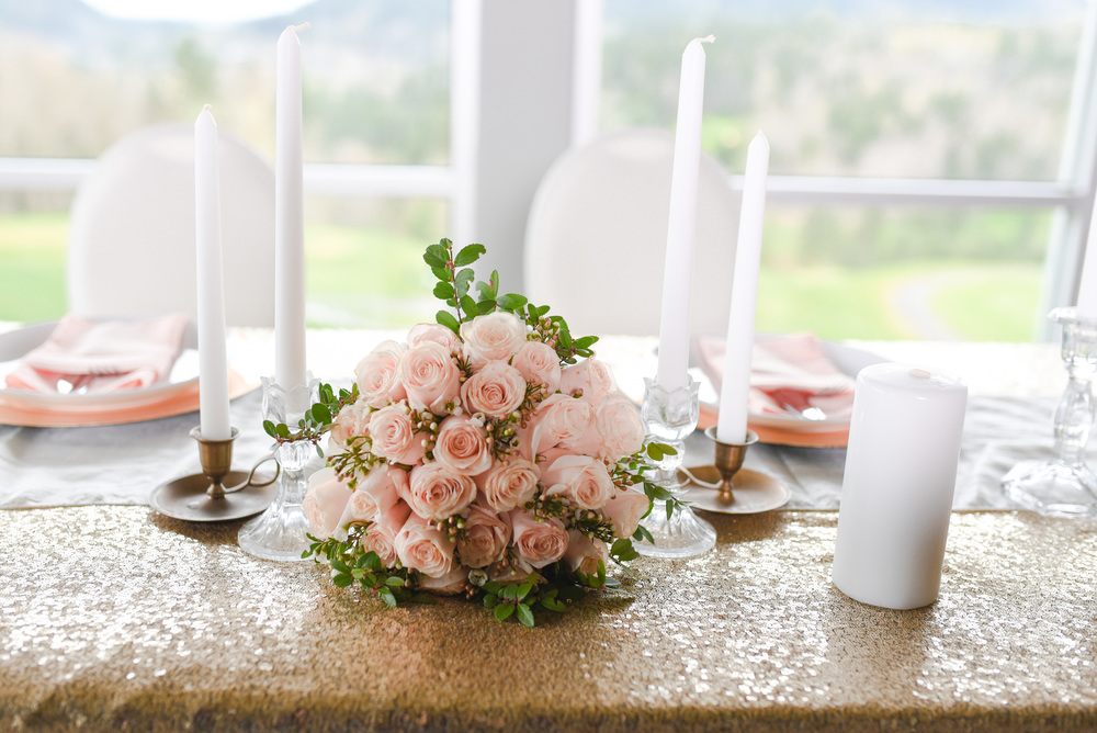Linen and table settings by Skagit Valley Wedding Rentals Flowers by Petals by Linda
