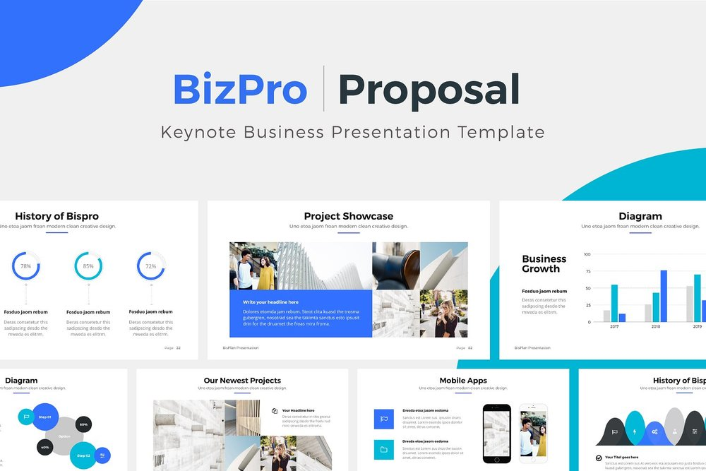 bizpro keynote business template bonus pixasquare