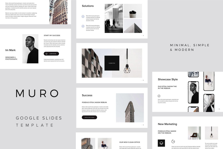 MURO - Google Slides Minimal Template + Bonus — PIXASQUARE