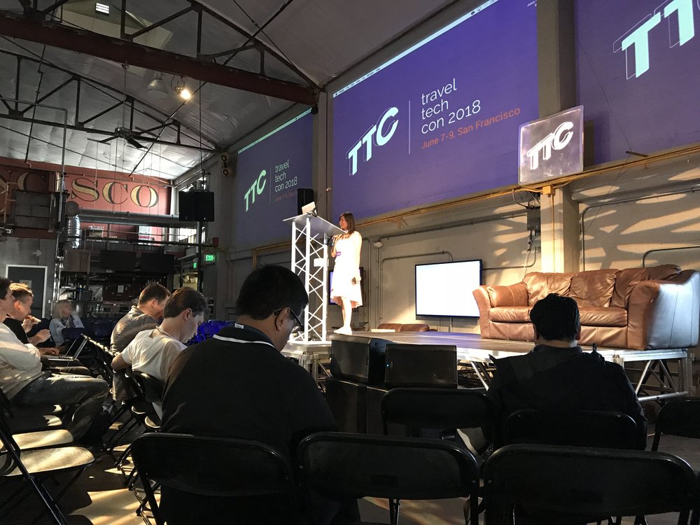 Impressions from Travel Tech Con, San Francisco, Juen 2018, Ursula Silling, MD at think future- Hamburg Aviation Conference and Founder & CEO at XXL Solutions participated in the jury for the start up pitches.