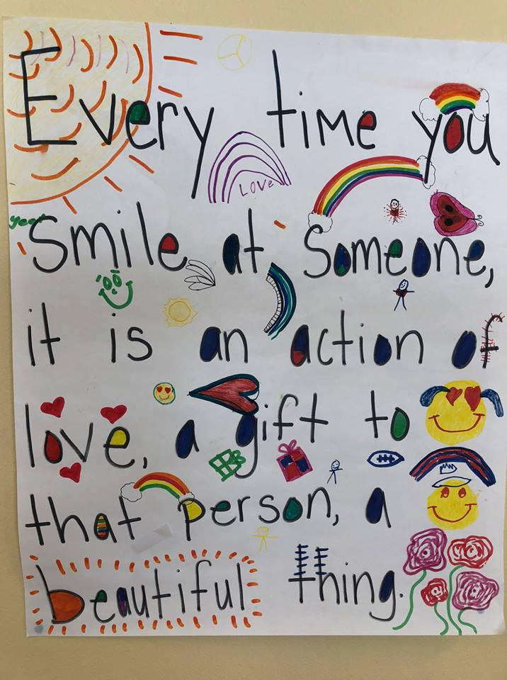 The students at Ponderosa Elementary created this after my talk - #InnovateandInspire -
