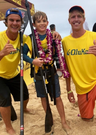 Connor Baxter and I congratulating Bobo on his accomplishment - Photo Credit 808 Photo