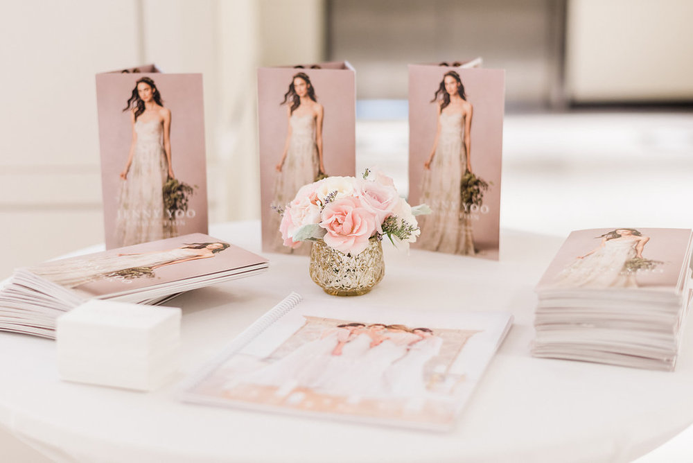 Photography:  Giadore Photo   | Venue:  Kendra Scott Chicago  | Catering:  Blue Plate Chicago   | Hair & Makeup:  Kate Johnson Artistry    | Floral:  Atmospheres Event Group  | Stationary:  Design That Flies  | Gowns:  Jenny Yoo NYC  | Suits:  J Toor