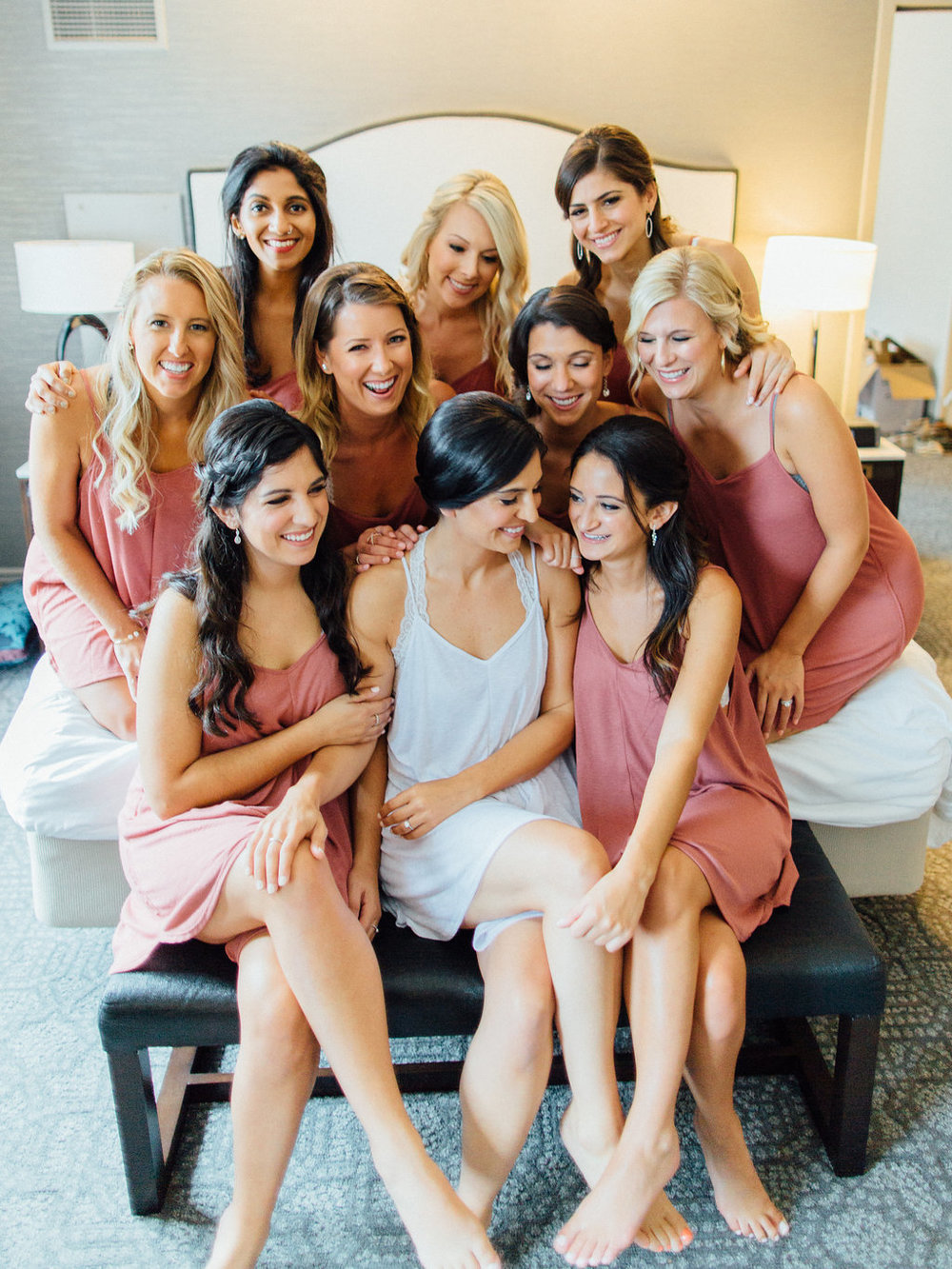 Photography:  Tim Tab Studios   | Coordination: The Simply Elegant Group,  Lindsay | Floral design:  The Bread and Butterfly | Decor:  Art of Imagination | Hair:  Holli Beauty | Makeup:  Joanna B Artistry  and  Anjelica Bannos  | Bride's gown:  Sarah Seven | Groom's tux:  The Black Tux | Bridesmaids:   Show Me Your MuMu  | Venue:  Bridgeport Art Center  | Catering:  Limelight Catering
