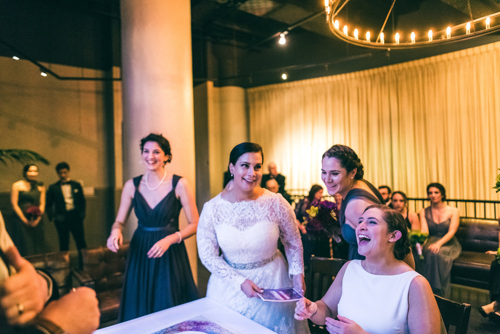 Jewish wedding ceremony for two brides
