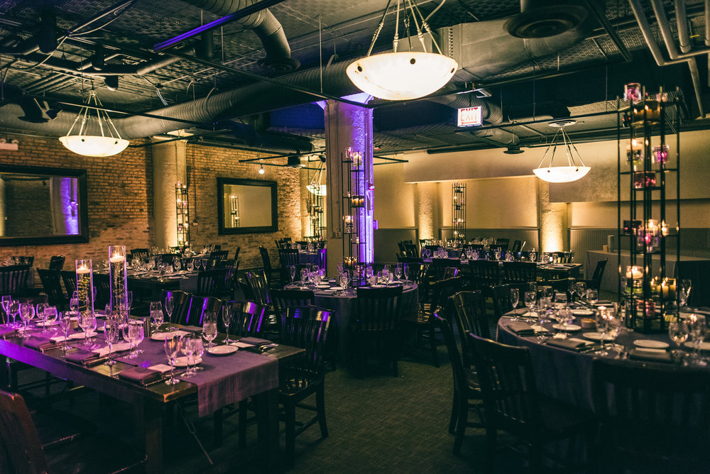 Wedding reception at River Roast Social House in Chicago