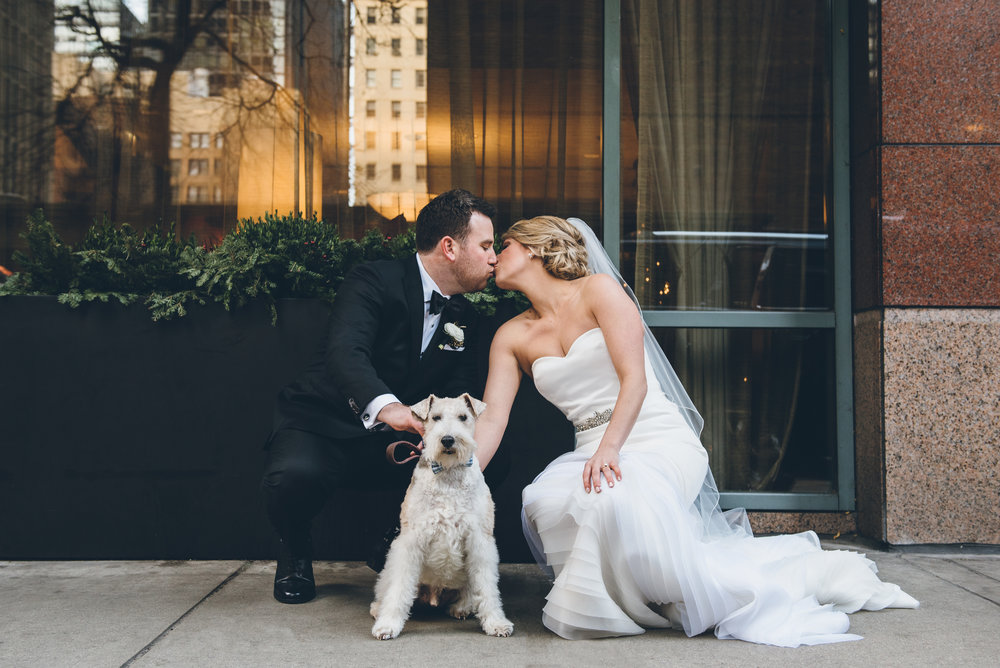 Bride Groom Dog