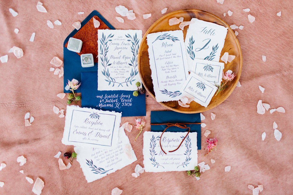 Handmade Paper Wedding Invites
