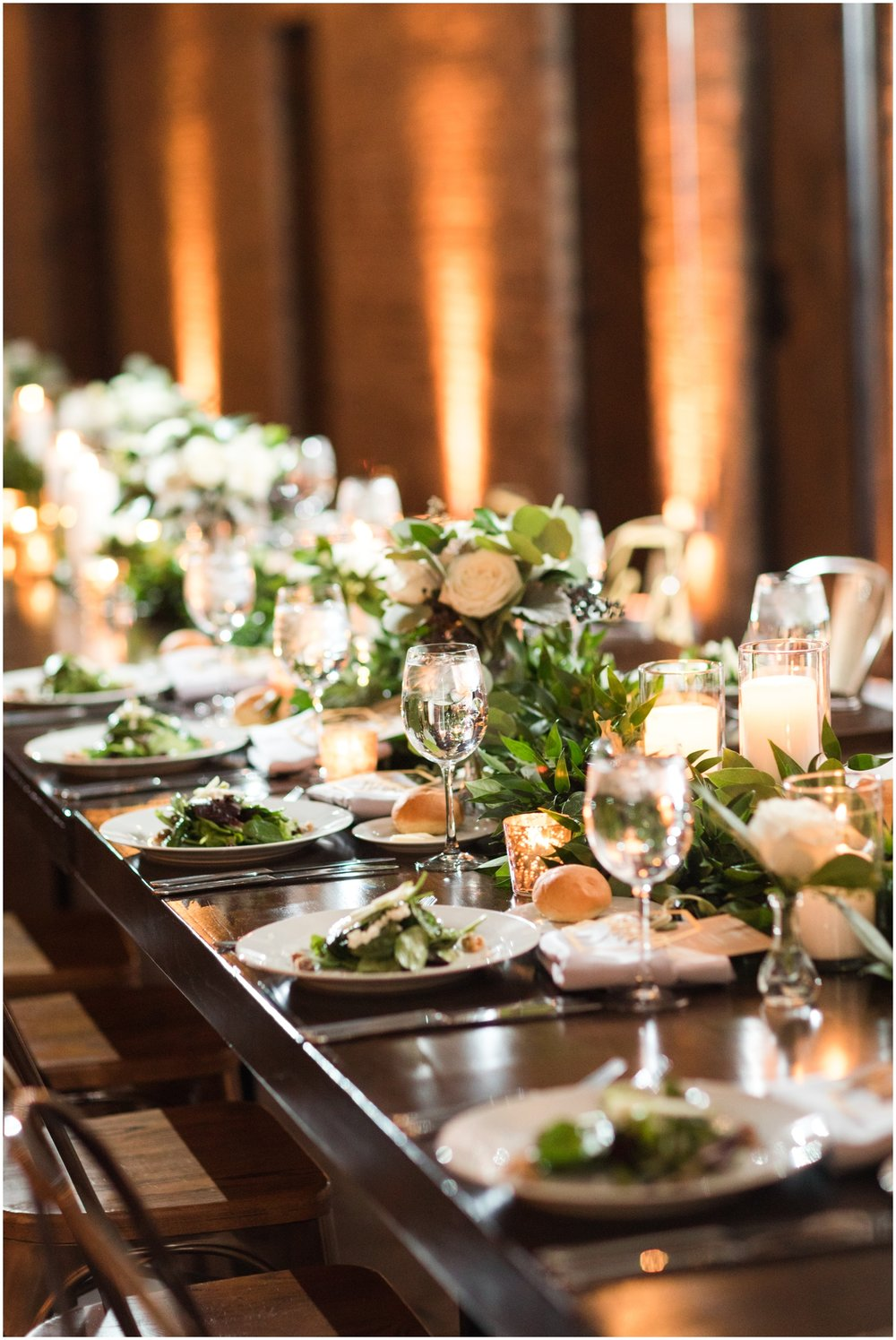 wedding catering food and tablescape
