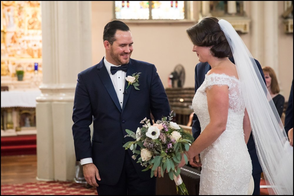 bride and the groom at the  ceremony