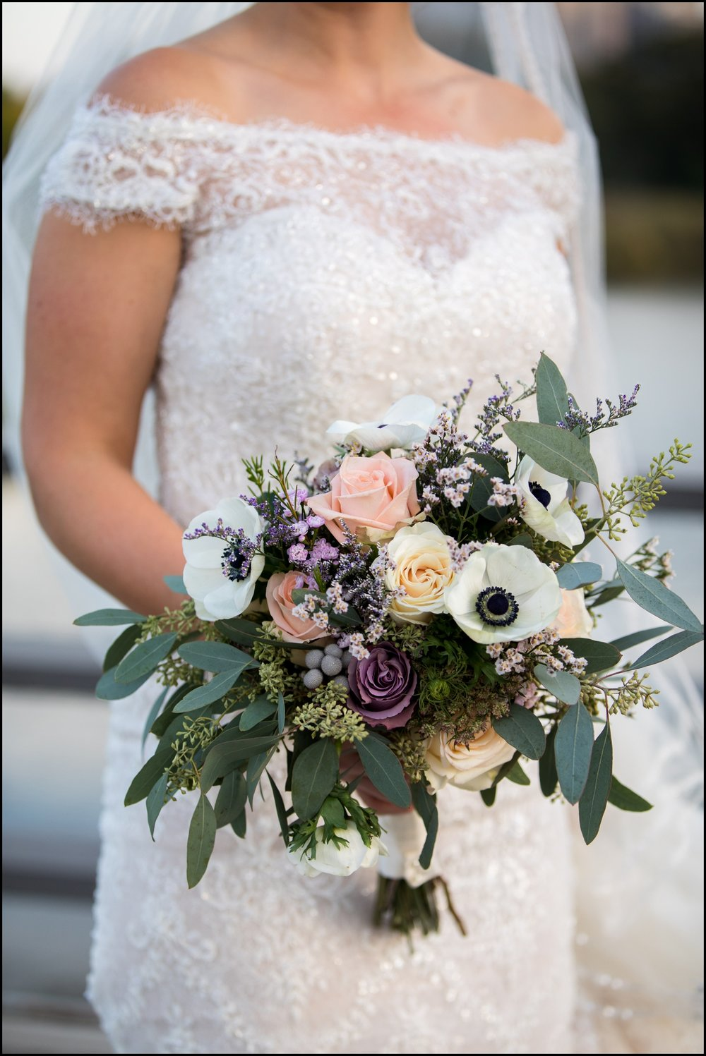 bride and her bridal bouquet