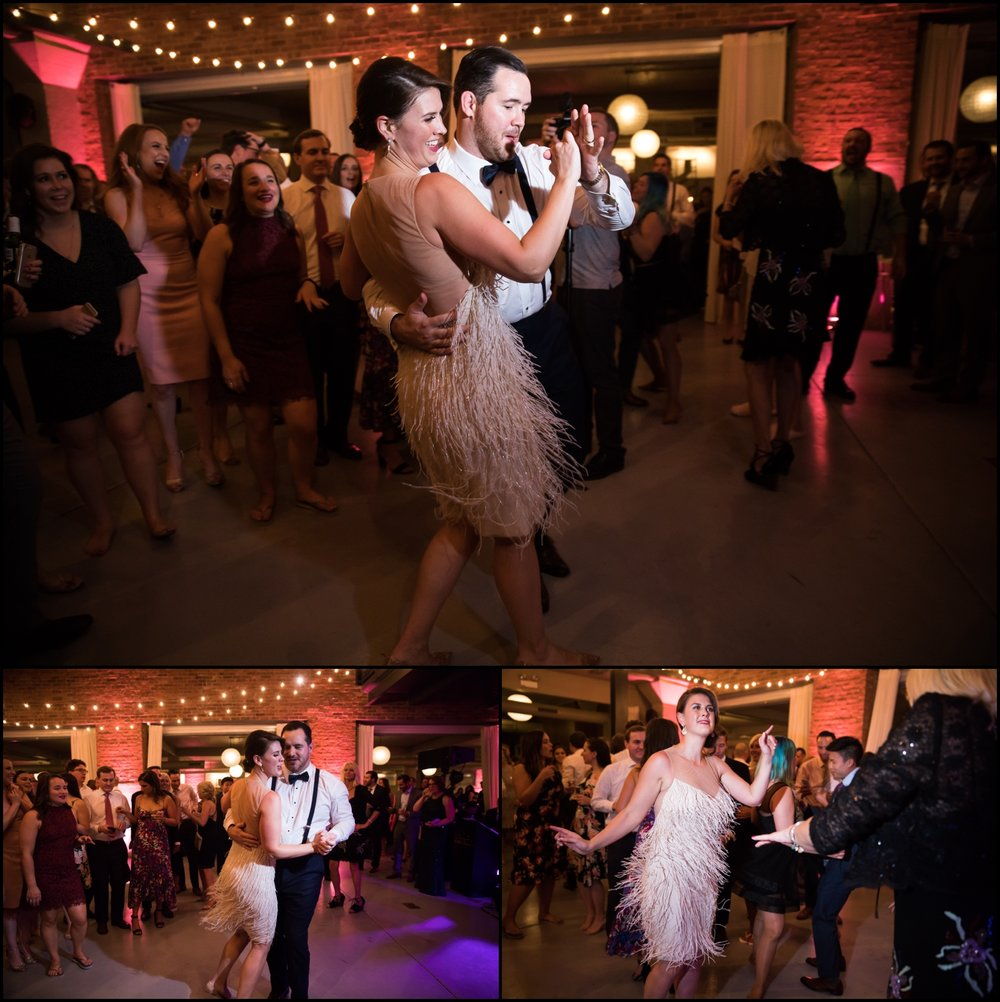 people dancing at the reception