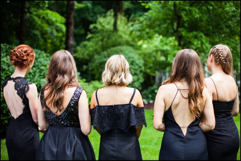 bridesmaids navy blue dresses