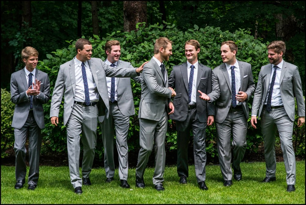 groomsmen with the groom