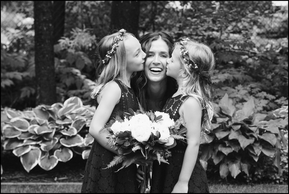 bride and the flower girls