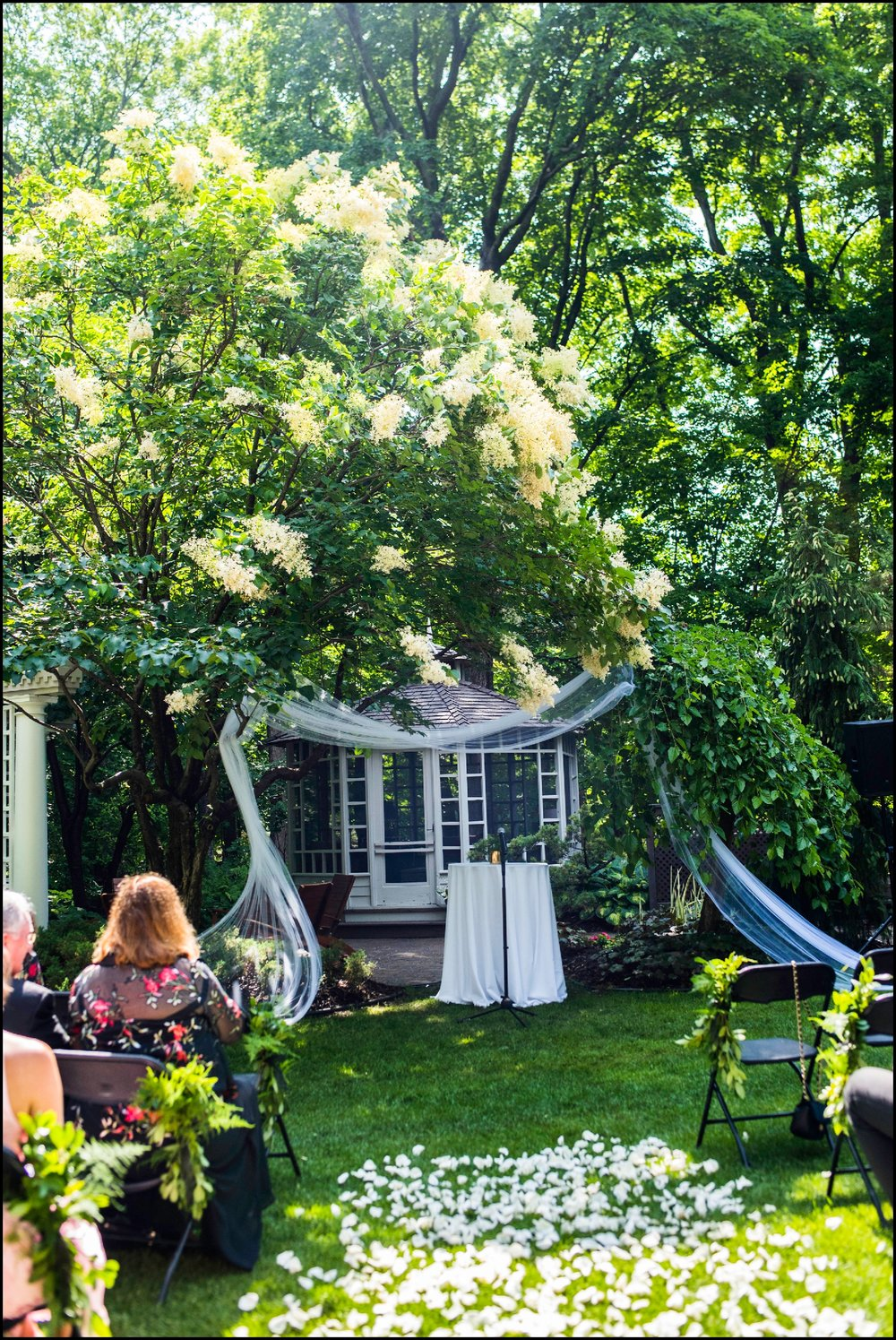 wedding details for Backyard Wedding