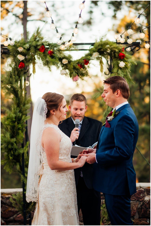 bride and groom saying I do