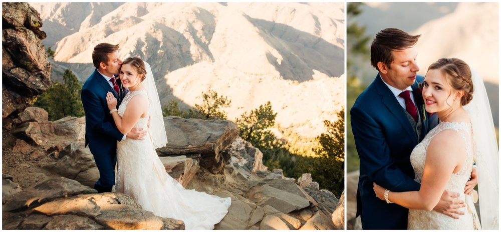 bride and groom in the mountains of Colorado