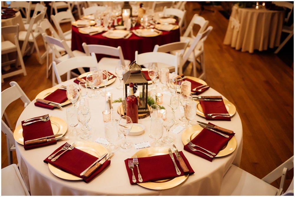 Wedding tablescape and centerpiece details