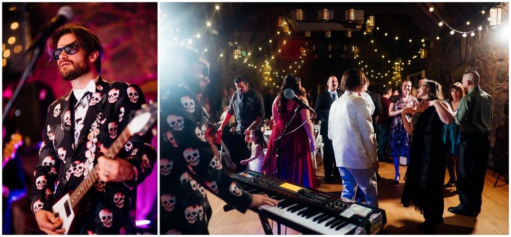 musicians at Colorado wedding