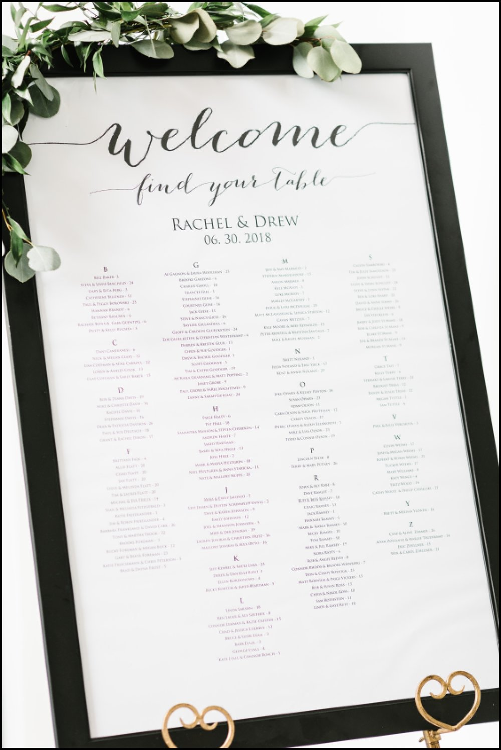 welcome seating chart