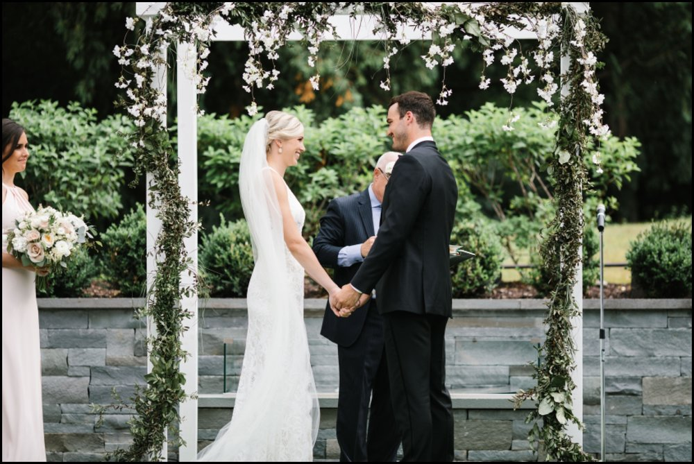 bride and groom during their wedding ceremony