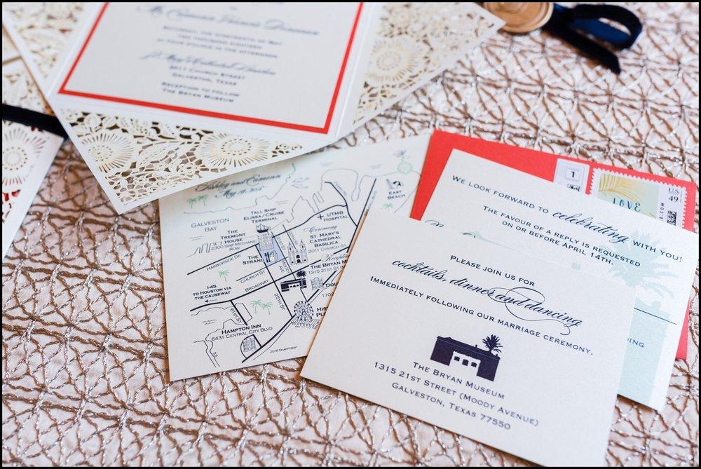 colorful Texas wedding invitations