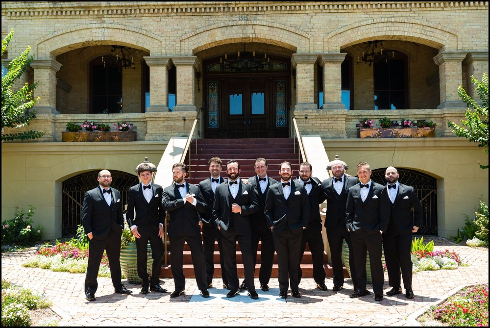 groomsmen at Texas wedding