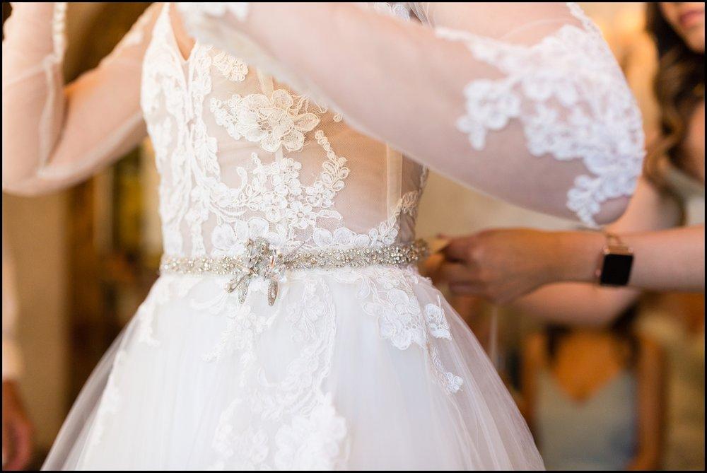 wedding gown detail
