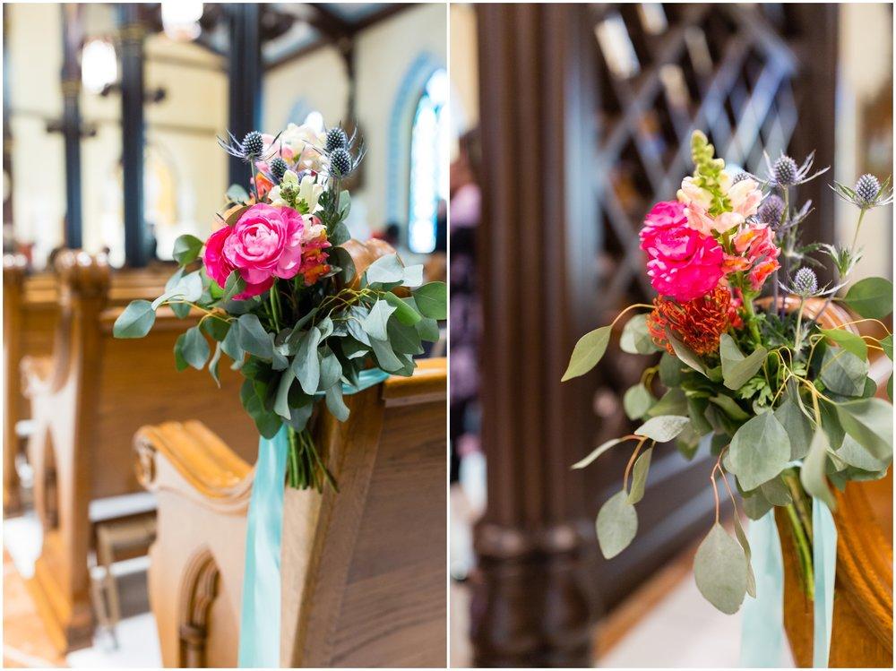 wedding ceremony floral decor