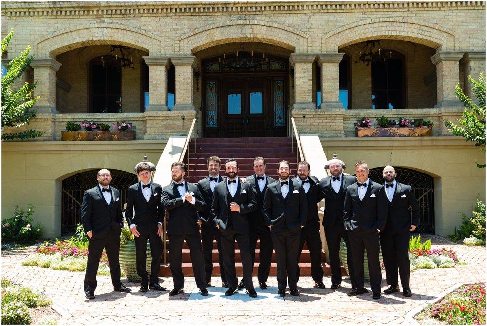 groomsmen at the Bryan Museum Galveston