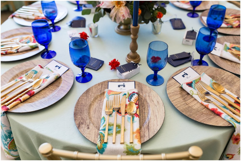 colorful wedding tableset