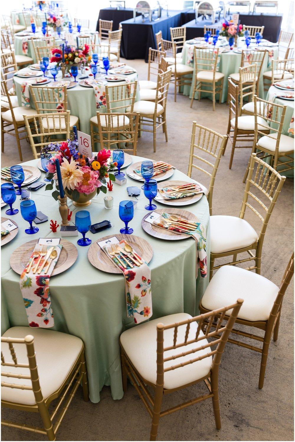 colorful wedding table set