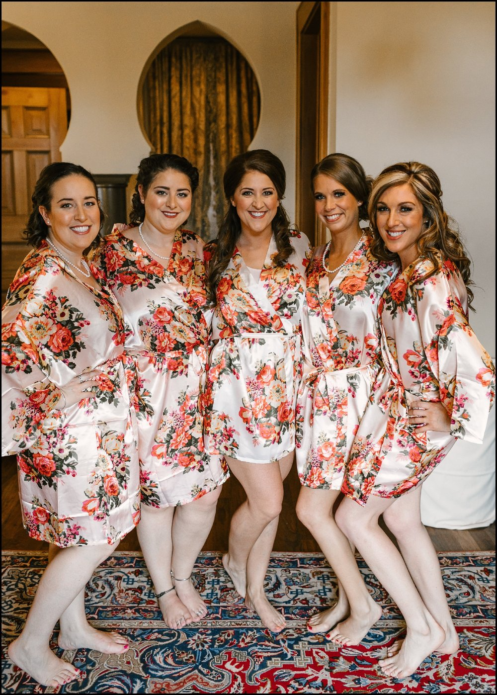 bridesmaids and bride before Mpls wedding
